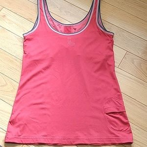 Lole athletic tank top with built-in bra M